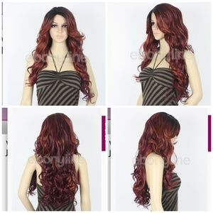🎃NWT RED blend Vanessa Super C-Side Lace Part Wig